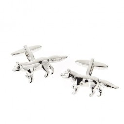 Fox Cufflinks Polished