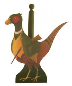Pheasant kitchen roll