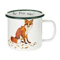 Fox Enamel Mug