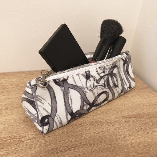 Bridles Oilcloth Make Up Bag Or Pencil Case Hunting Mad