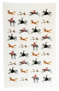 Tally Ho Tea towel pattern