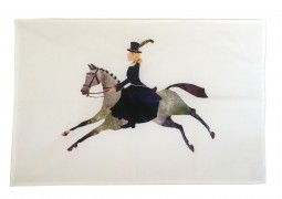Side Saddle tea towel